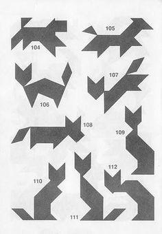 Jugar Tangram con soluciones