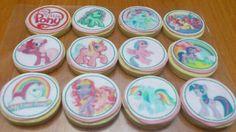 Galletas de limón con fondant y obleas de papel de arroz My little Pony de Fotopastel.com.