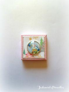 """*NOEL*Mini toile décorative série """" Sainte Nuit ... """" n°44 : Accessoires de maison par jademiel-etincelles"""