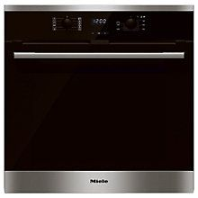 Buy Miele H2561BP Built-In Single Electric Oven, Clean Steel Online at…