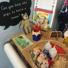 Creative - three little pigs Year 1 Classroom, Early Years Classroom, Nursery Activities, Activities For Kids, Creative Area, Barnyard Party, Outdoor Play Areas, Third Grade Science, Forensic Anthropology