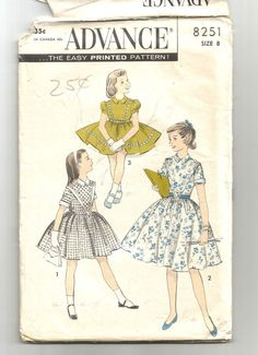 Check out this item in my Etsy shop https://www.etsy.com/listing/270571044/uncut-8251-advance-sewing-pattern-girls