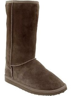 Womens Cozy Suede-Sherpa Boots from Old Navy.  These boots rock!