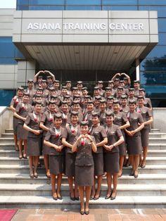 World stewardess Crews: The pretty stewardess in Asiana 아시아나 스튜어디스