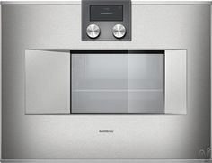 """Gaggenau BS470 24"""" Combi-Steam Oven with 1.7 cu. ft. Capacity, Self-Cleaning, Convection, 5 Humidity Levels, Proofing, Steaming, Meat Probe and Handleless Side Swing Door"""