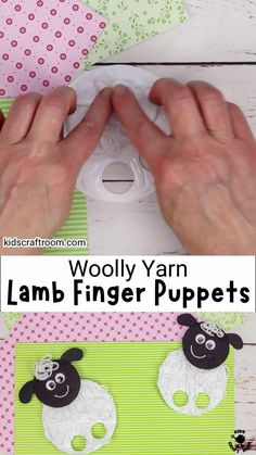 Yarn Lamb Finger Puppets are so fun as a Spring craft or Easter craft for kids. They are super simple to make and have a wonderful messy yarn texture that makes them seem really woolly. This interactive lamb craft is perfect for little hands! Why not make a whole flock? #kidscraftroom #kidscrafts #springcrafts #eastercrafts #lambcrafts #sheepcrafts Creative Arts And Crafts, Crafts For Kids To Make, Easter Crafts For Kids, Craft Activities For Kids, Arts And Crafts Projects, Toddler Crafts, Preschool Crafts, Art For Kids, Fair Projects