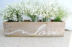 Reclaimed Wooden Love Planter Wooden Flower by BitsOfImperfection