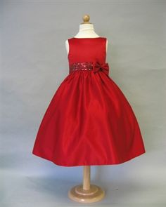 Girls Holiday Dress, I love this for Princess T!  With silver tights and red velvet shoes.  <3 LA