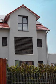 Reiheneckhaus In Der Stadt Modernes Townhouse Holzrahmenbauweise Holzbau Holzhaus