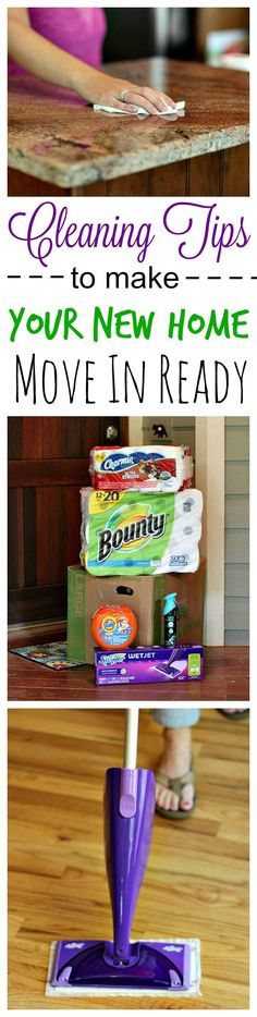 Moving into a new home can feel overwhelming but these cleaning tips and the right products from can make it easier than you imagined! - Home Decor Styles Moving Home, Moving Day, Moving Tips, Moving Hacks, House Cleaning Tips, Cleaning Hacks, Move In Cleaning, Cleaning Lists, Cleaning Schedules