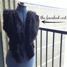 Learn how to create a faux fur vest with this easy DIY fashion tutorial, which provides step by step instructions for making a glamorous vest, as well as a no-sew faux fur vest.