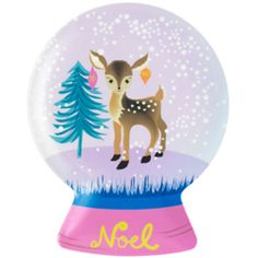 dear snow globe plate from Paperchase