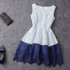 New Sexy Fashion Hit Color Sleeveless Dress Casual Dresses, Short Dresses, Prom Dresses, Summer Dresses, Luulla Dresses, Sleeveless Dresses, Pretty Dresses, Beautiful Dresses, Jw Mode