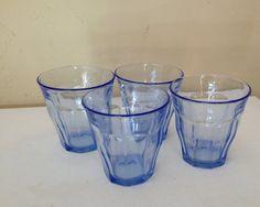 Vintage Duralex Picardie blue glass juice tumblers set of 4 http://juicymake.com/best-juicers-guide/best-juicers-on-the-market/