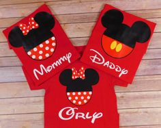 Custom Disney Family Matching Shirts Mickey Mouse Minnie