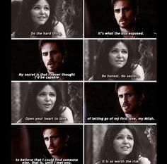 worth the risk.  Snow giving aside and hook revealing his deepest secret When Hook told Emma this!