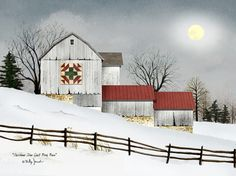 Christmas Star Quilt Block Barn by Billy Jacobs