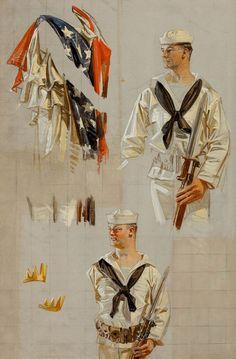 leyendecker-sailor-sketch.jpg (539×820)