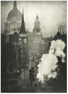 St. Paul's, from Ludgate Circus - 1909  Photographer: Coburn, Alvin Langdon  via The British Library