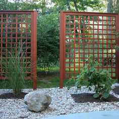 wood privacy panels for the garden