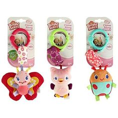 Bright Starts Chime Along Friends Take-Along Toys-Styles Will Vary Assortment of 3 Each Sold Separately