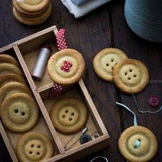 Biscuits en forme de boutons