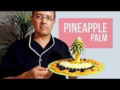 How To Make A Pineapple Centerpiece Edible Fruit Arrangements, Pineapple Palm Tree, Pineapple Centerpiece, Fruit And Vegetable Carving, Tree Centerpieces, Fruit Slice, Food Decoration, Delicious Fruit, Fruit Art