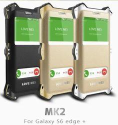 2016 LoveMei MK2 Drop Resistance Aluminum Metal Silicon Armor case for Samsung galaxy s6 edge plus / S6 edge+ Flip Cover Cases