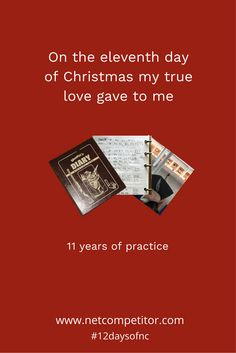 On the eleventh day of Christmas, my true love gave to me…11 years of practice, 10.9 dreams o' plenty, 9 dreaded snowbirds, 8 sighter shots, 7 point improvement, 6 dozen targets, 5 types of shooting, 4 quarterly champions, 3 dollar matches, 2 bricks of ammo and a big shiny golden trophy.#12daysofnc