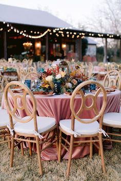 Let's talk about fall weddings for a sec. I can hardly think of a more beautiful season to have a wedding than when the air is crisp and nature just explodes in color. This gorgeous fall wedding at Austin wedding venue Pecan Springs Ranch captured by Jona Christina is one we can't stop pinning with event design by Silver Thistle Weddings and flowers by The Flower Girl. Easy to see why! Forest Wedding Reception, Tent Reception, Rooftop Wedding, Luxe Wedding, Wedding Reception Decorations, Fall Wedding, Wedding Tables, Reception Ideas, Thistle Wedding