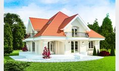 Single Floor Home Design Front Bungalow Style House, Bungalow Haus Design, House Doors, Facade House, Style At Home, House Construction Plan, House Design Pictures, Three Bedroom House Plan, Architectural House Plans