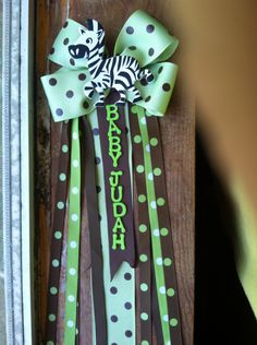 My sister in laws corsage for her baby shower safari themed