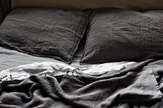 For the bedlinen range Souad Larusi selected warm tones of grey, almost like shadows where light and colours merge to form an 'in between' space. www.larusi.com