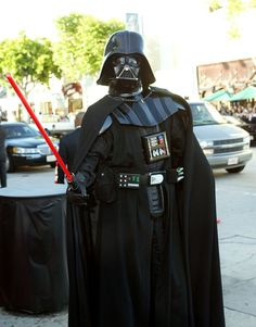 Can't go wrong with dressing up as Darth Vader for Halloween!