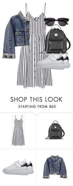 """Untitled #21472"" by florencia95 ❤ liked on Polyvore featuring MANGO, Versace and Yves Saint Laurent"
