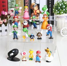 Super Mario Bros Yoshi Figure Dinosaurand Roid Watchtoys Figure Play 18style/1lot Online with $0.51/Piece