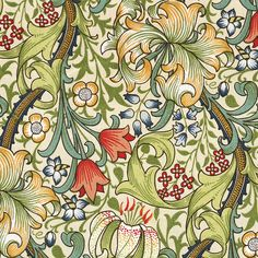 William Morris Golden Lily Rectangular Tablecloth, Cotton from National Trust - William Morris Golden Lily Rectangular Tablecloth, Cotton from National Trust - Summer Arts And Crafts, Arts And Crafts For Teens, Art And Craft Videos, Easy Arts And Crafts, Arts And Crafts House, Arts And Crafts Projects, Design Crafts, William Morris Wallpaper, William Morris Art