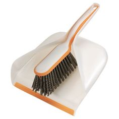 The Dustpan Set has a rubber edge that forms to the surface for a cleaner sweep up and easily stores in the handle of the dustpan. Scoop design securely holds dust and debris. Rubber edge forms to surface for cleaner sweep up. Brush with squeegee sweeps heavy or wet messes. Easy storage brush fits securely in dustpan. | Dustpan and Hand Broom Set | 1764