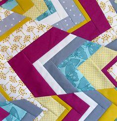 wonky chevron tutorial quilt