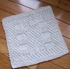 This Great Knit Reversible Dishcloth Has The Same Pattern On Both Sides