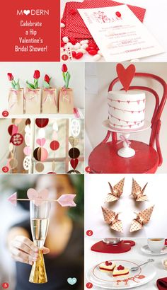 Modern Valentine's party inspiration! #engagementpartythemes #engagementpartyideas