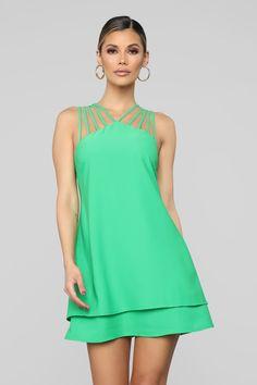 A Simple Matter Mini Dress - Green Tennis Dress, Tennis Clothes, Nice Dresses, Casual Dresses, Summer Dresses, Ankara Gown Styles, Fashion Nova Models, Everyday Dresses, Swing Dress