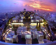Vertigo Grill and Moon Bar, Bangkok, Thailand - ELLEDecor.com