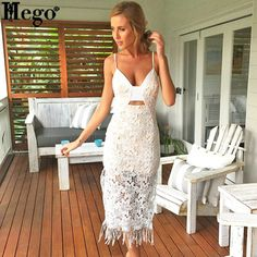 HEGO 2015 Women New Hot  V Neck Brand Lace Print Dress Summer With Free Shipping CG950