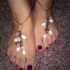 Barefoot jewelry Foot jewelry Bollywood BoHo by Changedidentity