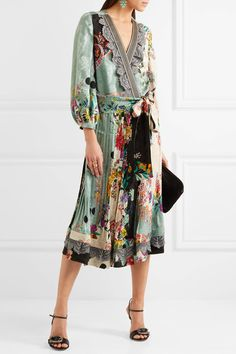 Etro | Printed jacquard wrap dress | NET-A-PORTER.COM