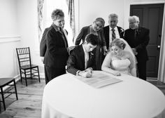 Ketubah signing with all the parents watching...