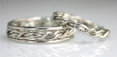 """Cord Of Three"" Wedding Rings, Wedding Bands made by Artist Todd Alan"