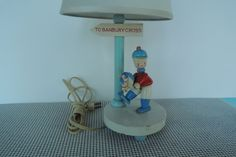 Baby Lamp Nursery Lamp Banbury Cross Nursery Rhyme Wooden
