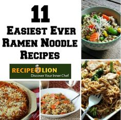 Re-imagine how you cook with that childhood favorite with these 11 recipes with Ramen noodles. From Ramen & Pork Stir Fry to a Beefed Up Ramen Noodle Bake and so much more, you won't want to miss a single recipe! Ramen Noodle Recipes, Ramen Noodles, Ramen Soup, Cooking Recipes For Dinner, Easy Cooking, Supper Recipes, Asian Recipes, New Recipes, Easy Recipes